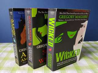 Wicked volume 1, 2, 3 (Gregory Maguire)