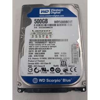 """WD 2.5"""" 500GB Hard Disk"""