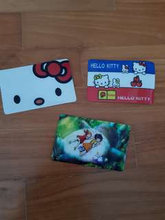 Ezlink Card stickers hello kitty totoro