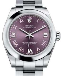 Rolex #177200 紫 羅馬字