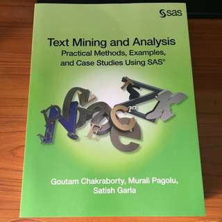 SAS Text Mining and Analysis