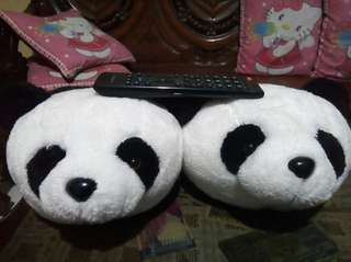 BearHuggs Panda Slippers Super Big Stuffed Toy