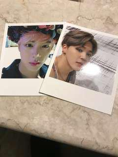 BTS OFFICIAL Wings photocards