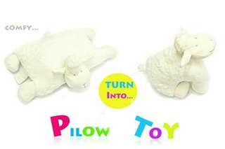 Baby Pillow Toy - WHITE SHEEP