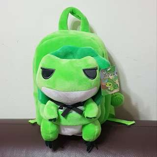 🚚 旅行青蛙/旅蛙 絨毛雙肩後背包/兒童背包/安撫娃娃背包