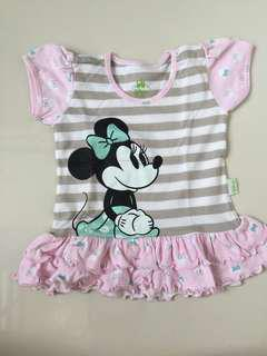 DISNEY minnie mouse frilled top