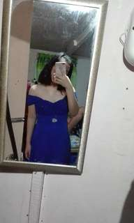 Blue straight gown 💙