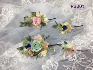 Bridal preserved flower hair accessories ( real flowers)