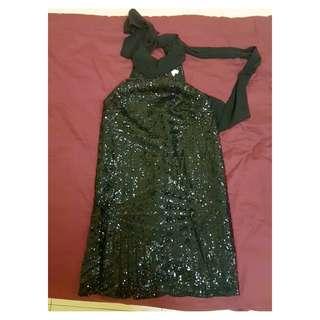 Halter / Sequin / Knee Length Dinner Dress