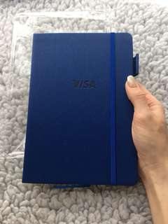 New visa leather notebook