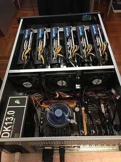 GPU mining rig (6x Sapphire RX580 Nitro+ 8GB)
