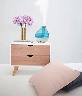 (118) Ansio Humidifier - Ultrasonic Cool Mist With Automatic Shut-Off And Night Light Function