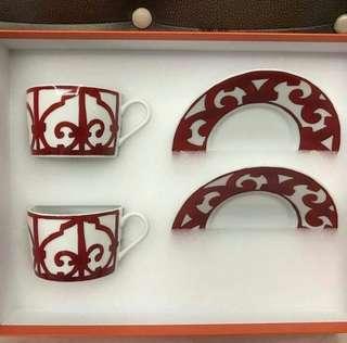 Bnew Hermes Tea Cups set