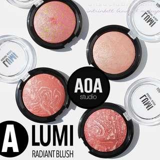 🆕LUMI BLUSHES Marbled Baked Swirled Blush A AOA Studio INSTOCK Cosmetics