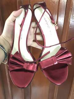 Red heels bought from linea