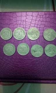 uang koin kuno 50 tahun 1971