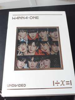 [WTS] WANNA ONE UNDIVIDED ALBUM