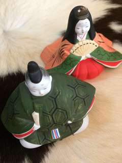 日本公家貴族雙陶偶