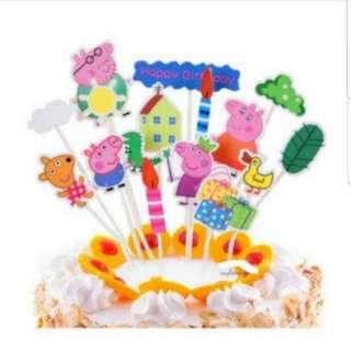 Happy Birthday Cake Topper Set