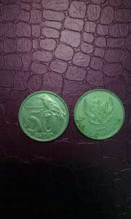 uang koin 50 tahun 1999