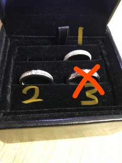 真鑽石戒指750