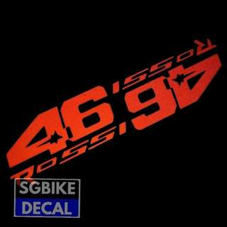 Red Vr46 'Rossi Decal