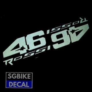 White Reflective 46 decal