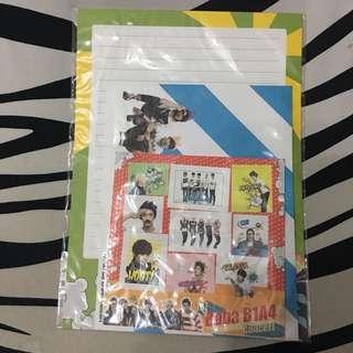 1st concert 週邊信封信紙set