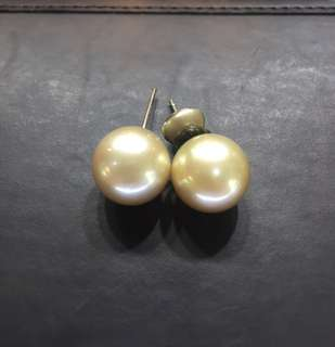 Authentic South Sea Pearl Earrings 13mm