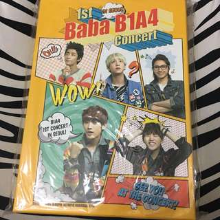 B1A4 1st concert碟連poster