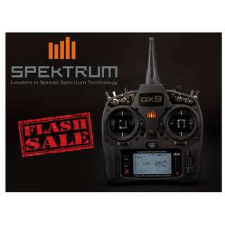 🚚 Deal Alert!! Spektrum DX9 Black Edition TX only on Flash Sale Now!!