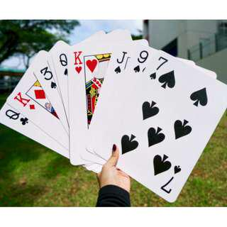 [Rental] Giant Playing Cards