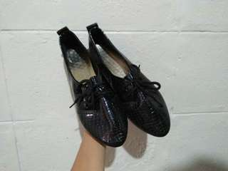 Black Synthetic Shoes