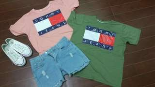 TOMMY JEANS CROP TOPS