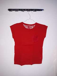 Red Lace T shirt