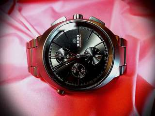 Rado~ 機械自動追針計時(rattrapante),限量發行,編號是083 /250黑色陶瓷錶殼及錶帶,原價五萬多元 ,只帶數次, 保證真貨,可上總代理交收