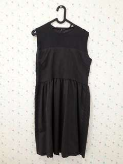 Dress sheer hitam