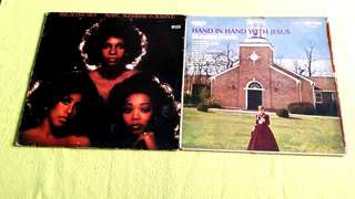 SUPREMES . mary, scherrie & susaye. ● SKEETER DAVIS . hand in hand with jesus. ( buy 1 get 1 free )  Vinyl record