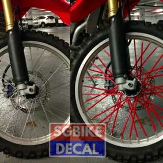Red spoke wheel Cover 72pc