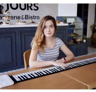 (買一送六)成人家用或初學者 折叠電子鋼琴 (88鍵)