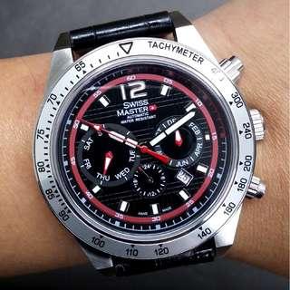 德國註冊品牌SWISS MASTER WATCH 倉存貨 全鋼機械自動手錶 (一年保養)