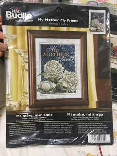 🚚 Bucillia counted cross stitch kit [MY MOTHER MY FRIEND]