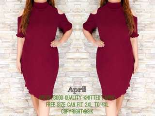 Plus size Dress  2xL-4xl KNITTED