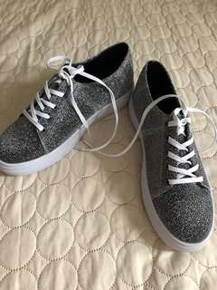 Something borrowed glitter sneakers
