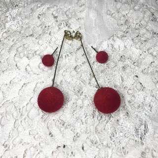 Elegant Fur Ball Dangling Earrings