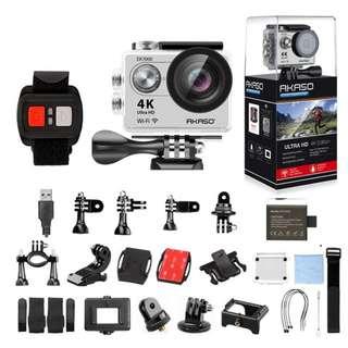 654. AKASO Silver EK7000 4K WIFI Outdoor Action Camera Video Sports pro Camera wifi Ultra HD Waterproof DV Camcorder Go Waterproof