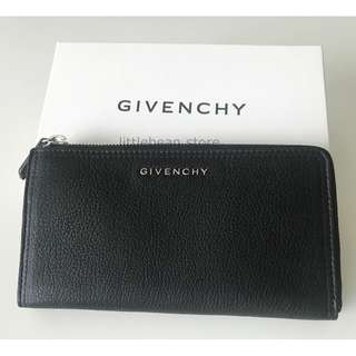 【Givenchy】Pandora Half Zip Long Wallet Black 黑色 銀包