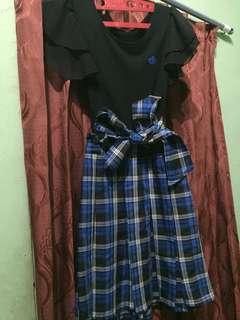 ( preloved clothes ) black n blue dress