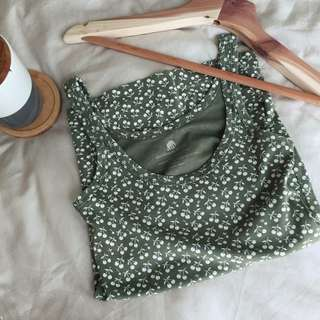 Banana Republic Tank Top (Olive Print)