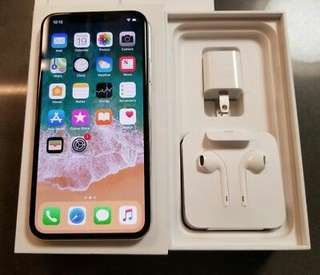 IPhone x mint condition silver